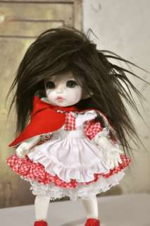 Long Brown Faux Fur Wig for Fairyland Puki Fee Monster High Dollfie