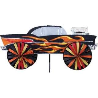 28 Hot Rod Car Yard Garden Ground Wind Spinner