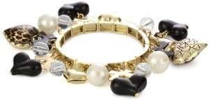 Betsey Johnson Lovely Leopard Heart Stretch Bracelet