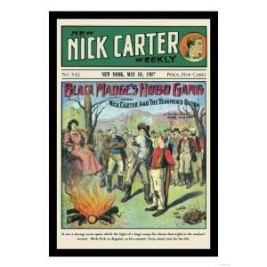 Nick Carter Black Madges Hobo Gang Giclee Poster Print