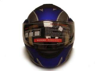 DOT FLIP UP MODULAR MOTORCYCLE STREET HELMET BLUE ~L
