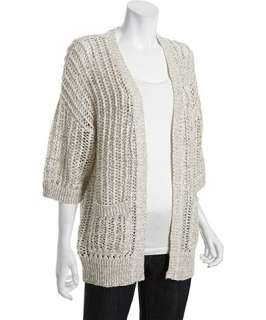 Free People ivory cotton blend Gone Fishing open knit cardigan