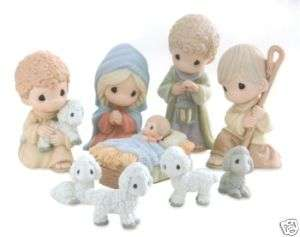 Precious Moments Nativity 9 Piece Set Come Let Us Adore Him Regular