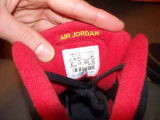 Boys Nike Air Jordan 60 Sixty Plus Black Red Yellow Ice 6Y Womens 7.5
