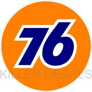 12 UNION 76 GASOLINE GAS PUMP OIL TANK DECAL by Unocal
