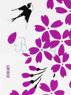 Cherry Blossom and Swallow Wall Stickers Removable Wall Bedroom Decor