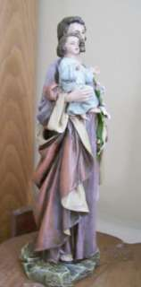 St Joseph and Child Jesus Religious Figurine Catholic Statue