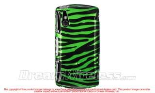 Sony Ericsson XPERIA PLAY Green Black Zebra Hard Case