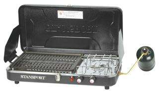 NEW STANSPORT HIGH OUTPUT PROPANE CAMPING STOVE & GRILL