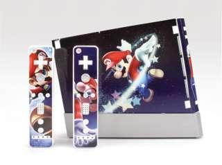 Super Mario Vinyl Sticker Skin for Wii Console &2Remote