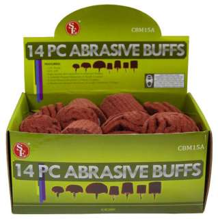 Lot 14 pc Abrasive Buffs High Quality Red Aluminum Oxide 240 Grit