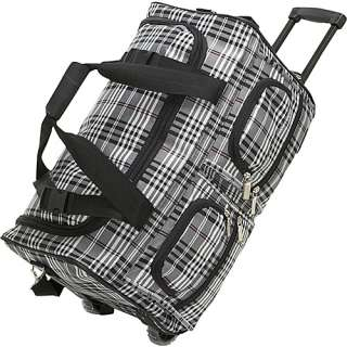Rockland Luggage 22 Rolling Duffle Bag   Black Cross