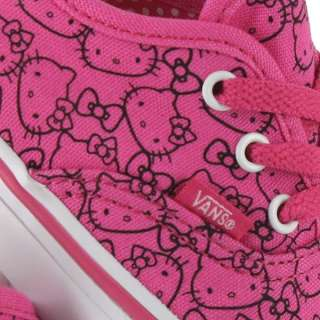 VANS AUTHENTIC HELLO KITTY SOLID PINK PRINT TODDLERS 10