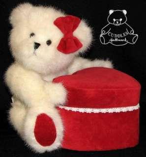 Boyds Plush Toy Stuffed Animal Heart Box Valentine Teddy BNWT