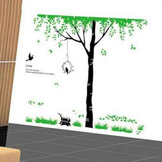 Tree Bird Art Mural Vinyl Wall Sticker Decal Room Home Decor