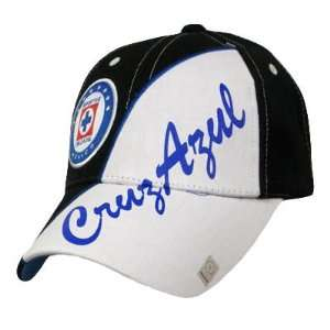 SOCCER MEXICO FMF OFFICIAL CRUZ AZUL HAT CAP BLK WHITE