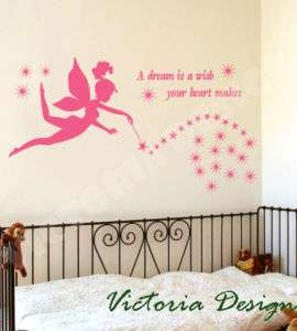 FAIRY MAGICAL WAND STICKER DECAL ART VINYL WALL STICKER