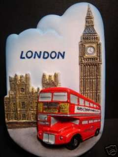 Double Decker Bus / Big Ben,London,Europe Fridge Magnet