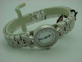 Wittnauer Ladies 10L107 Silver Tone Crystal Watch