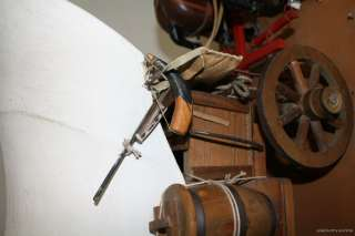 EARLY AMERICAN HORSE WAGON PRIMITIVE VINTAGE FOLK ART MODEL ANTIQUE
